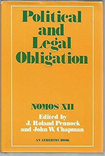 political and legal obligation nomos xii