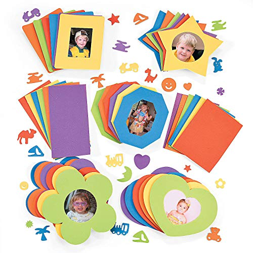 Fun Express DIY Sensational Foam Picture Frame (Makes 30 Photo Frames) Craft Kits