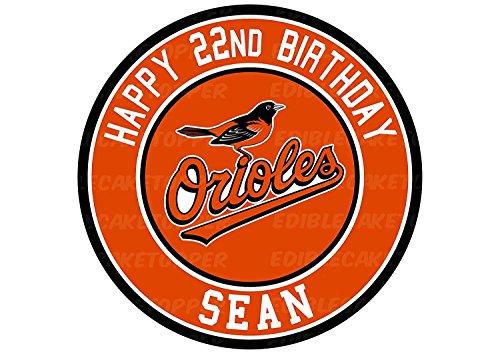 EdibleInkArt Baltimore Orioles Edible Cake Topper Personalized Birthday 6