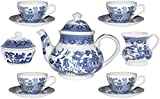 Churchill Blue Willow 11 Piece Tea Set