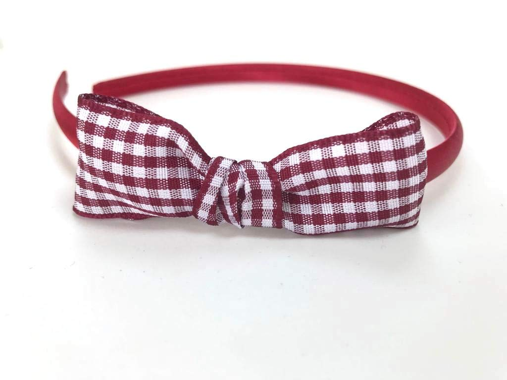 Red Satin Side Knot Bow Hairband Headband Alice Band