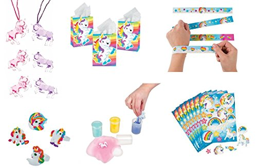 Unicorn Putty Party Favor Bundle Set For 12