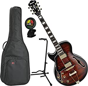 ibanez artcore expressionist ag95 left handed hollowbody electric guitar dark brown sunburst w. Black Bedroom Furniture Sets. Home Design Ideas