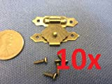 10x Hinge 20 X 30 Small Mini Doll House Antique