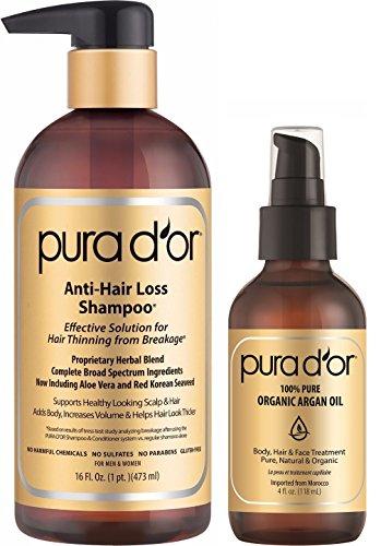PURA D'OR Gold Label Anti-Hair Loss Shampoo & Argan Oil