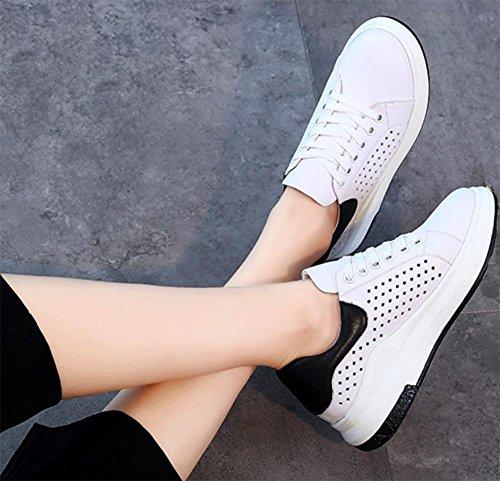 zapatos de los zapatos del elevador de encaje Sra Primavera casual zapatos zapatos de las señoras white