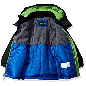 London Fog Little Boys' Midweight Parka Coat With Polar Fleece Lining, Blue, 5/6