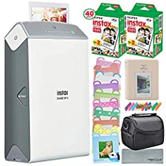 Fujifilm - Instax SHARE SP-2 Wireless Printer - Color: Silver - Print photos instantly from your smartphone with this Fujifilm Instax Share portable printer. This wireless printer works with IOS and Android phones, and apps for both platforms...