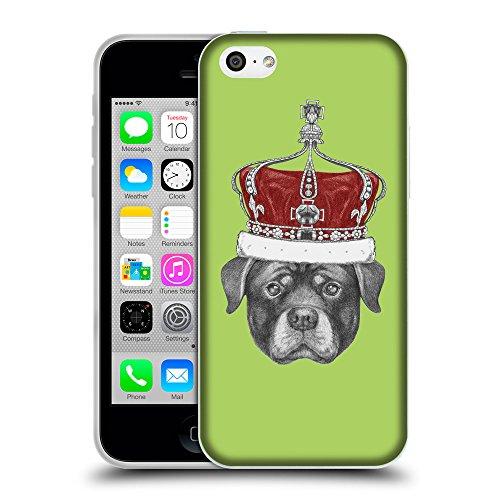 GoGoMobile Coque de Protection TPU Silicone Case pour // Q05450628 Rottweiler couronne Inchworm // Apple iPhone 5C
