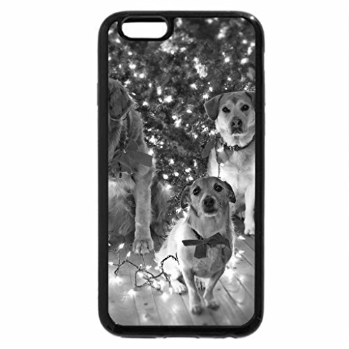 iPhone 6S Case, iPhone 6 Case (Black & White) - Merry Christmas