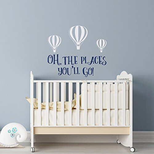 Oh The Places You'll Go Wall Decal Dr Seuss Nursery Dr Seuss Wall Decal Nursery Decor Wall Decal Kids Nursery Quotes Wall Decal Boys