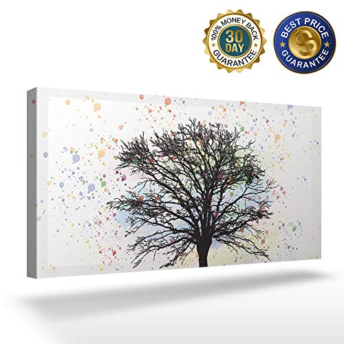 OUR WINGS Canvas Print Wall Art Decor Dead Tree in Watercolor Style Background Wall Art Painting The Picture Print On Canvas for Home Modern Decoration 12x24in]()