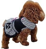 Freerun Spring Summer Comfort Cotton Small Pet Dog Cat Puppy Clothes Dress Apparel - Black, S