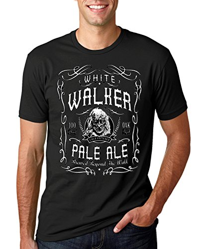 Wild Bobby White Walker Pale Ale | GoT Alcohol Parody | Mens Pop Culture Tee Graphic T-Shirt, Black, ()