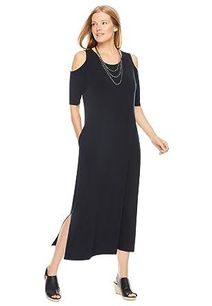 Women&39s Plus Size Cold-Shoulder A-Line Maxi Dress at Amazon ...