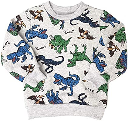 Boys Sweatshirt Cotton Jumper for Kids Dinosaur Crocodile Elephant Top Casual Pullover Long Sleeve T Shirt Toddler Clothes
