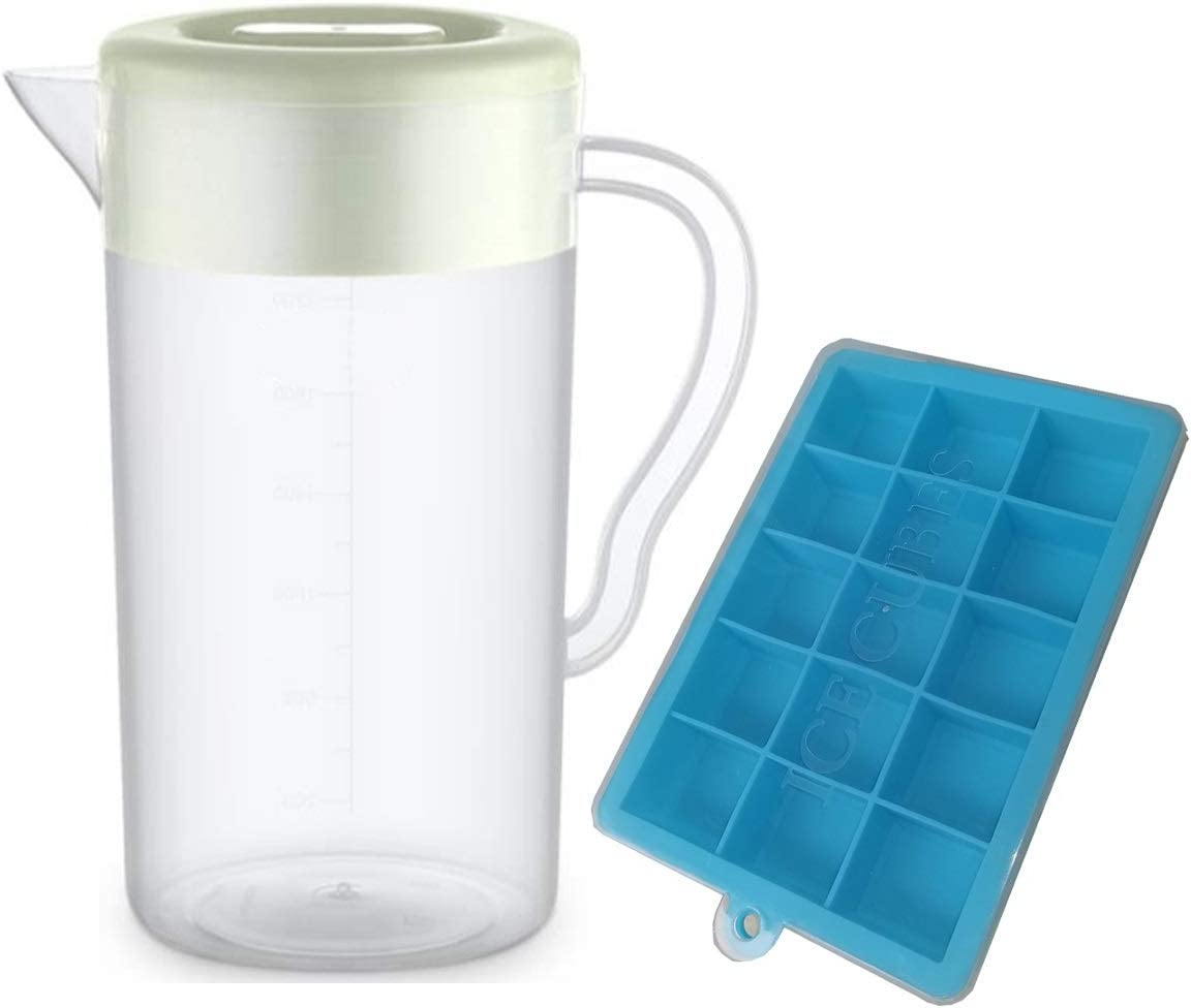 3.8 L WhiteUS Shipping. Water Pitcher Jug with 2 Filters,BPA Free 10 Cup