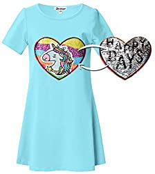 Girls Unicorn Sequin Cotton T-Shirt