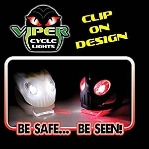 Viper Clip-on Cycle Lights 2 per pack 1 Red & 1 White by Viper