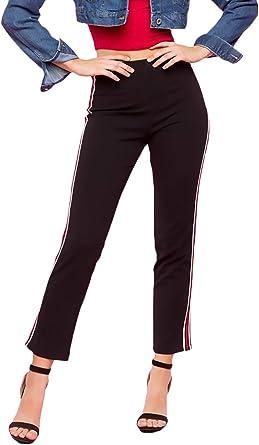 BOLAWOO Capri Pantalones Mujer Otoño Cintura Alta Skinny Falda ...