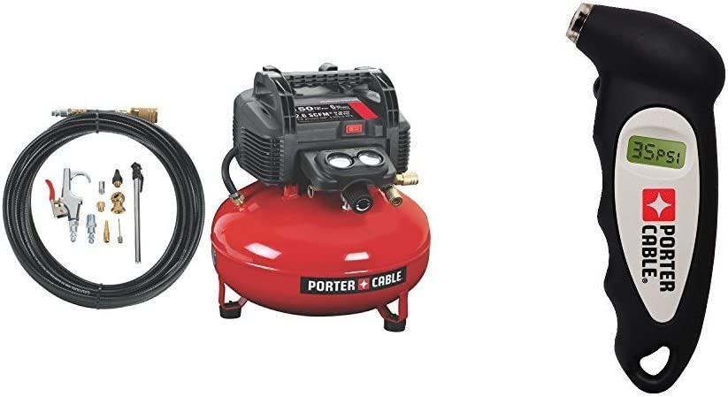 PORTER-CABLE C2002-WK Oil-Free UMC Pancake Compressor with Pressure Gauge