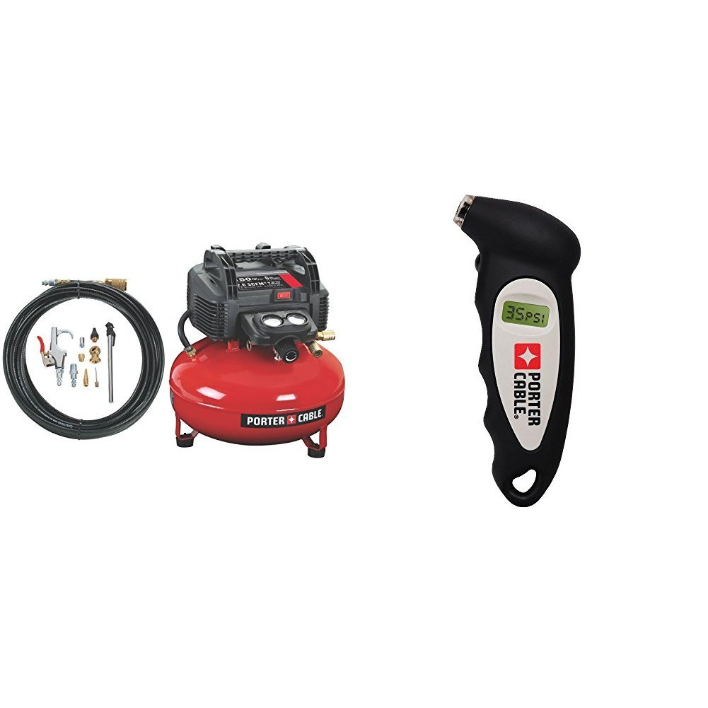 compressor w/ accessory kit and tire gauge