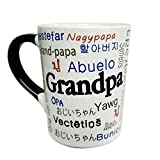 'Grandpa' Around the World Ceramic Coffee Mug 20 oz by Tumbleweed Pottery