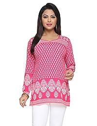 Indian Tunic Top Womens Kurti Printed Blouse Kurta India Clothes