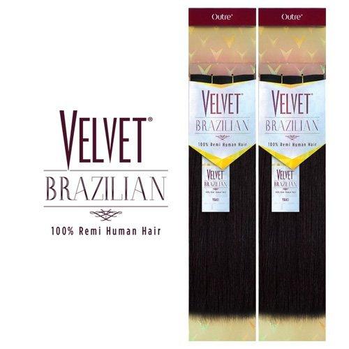 (Outre Remy Human Hair Weave Velvet Brazilian Perm Yaki (10