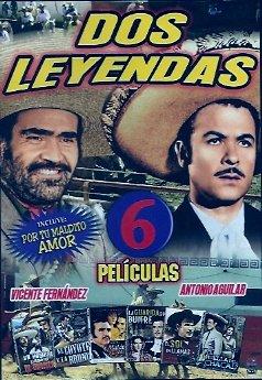 Amazon Com Dos Leyendas Antonio Aguilar Vicente Fernandez 6 Pack Vicente Fernandez Antonio Aguilar Movies Tv