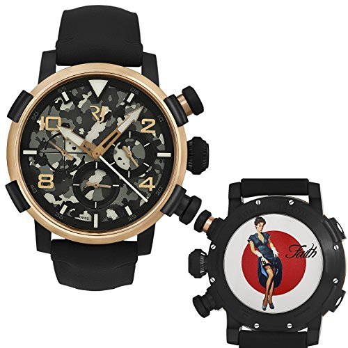Romain-Jerome-Pinup-DNA-Red-Gold-WWII-Faith-Garter-Chrono-Auto-RJPCH00301