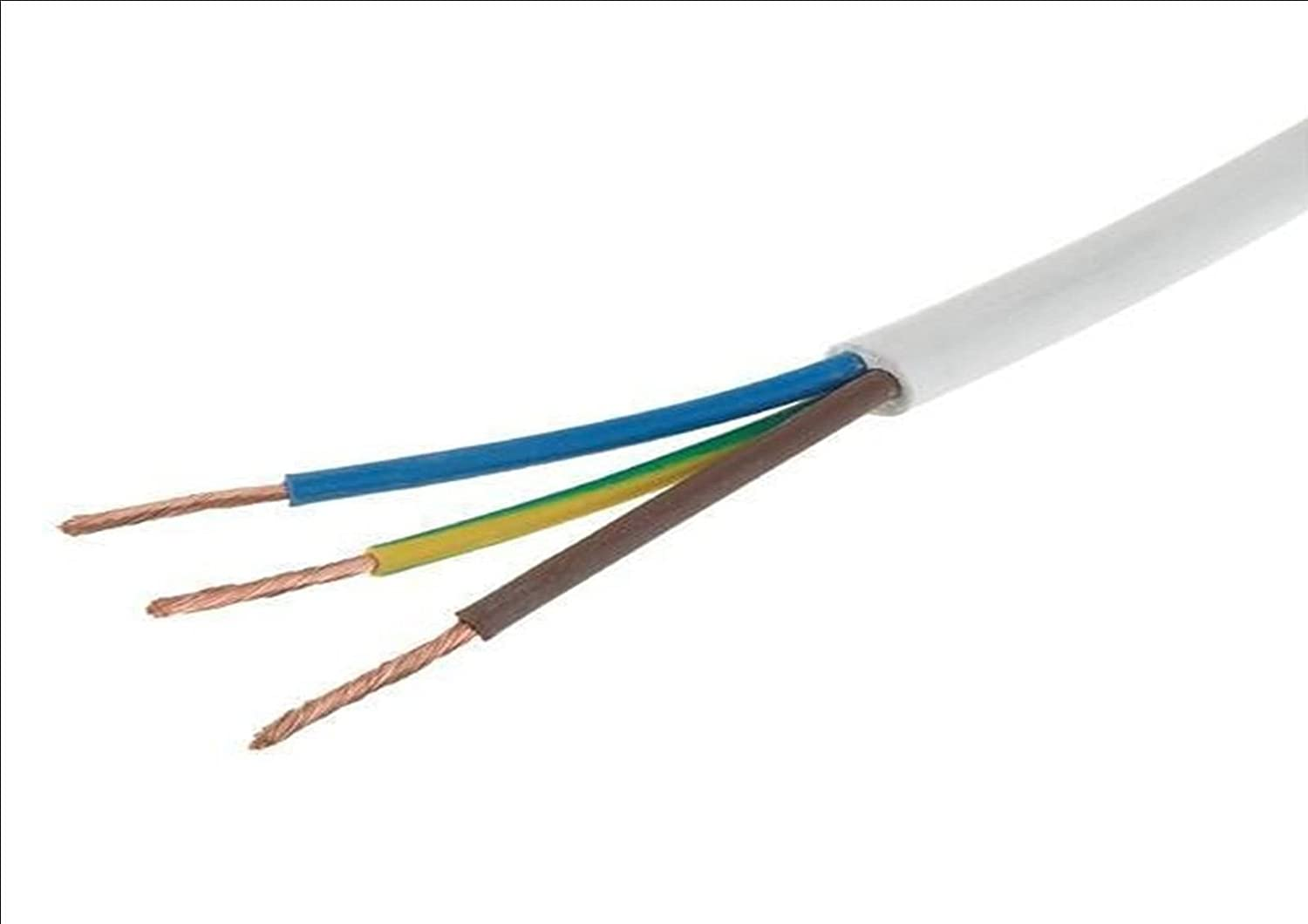 White Round Flexible Flex Cable 2 3 4 Core 0.75mm 1mm 1.5mm 2.5mm Electric