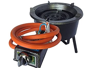 High Power Natural Gas Stove With Wind Guard And Quick Disconnect