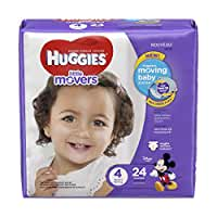 HUGGIES Little Movers Diapers, Size 4,  24 Count
