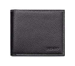 Aidee Men's Genuine Leather Bi-fold Wallet