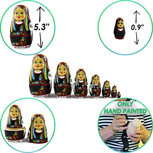 MATRYOSHKA&HANDICRAFT Ukrainian Nesting Dolls 7 Pieces - Ukrainian Gifts - Ukrainian Folk Costume Clothing by MATRYOSHKA&HANDICRAFT (Image #1)