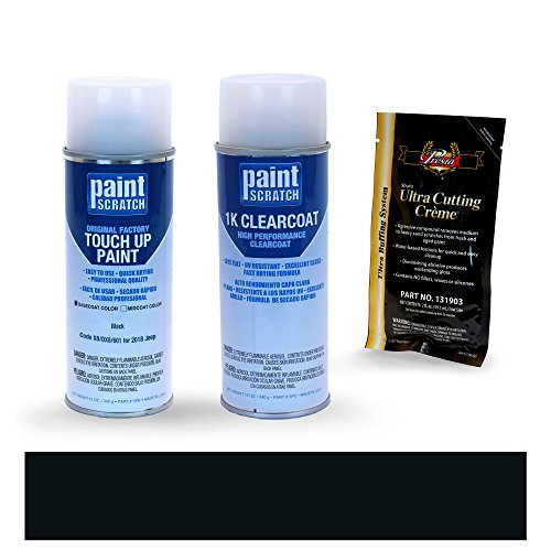 [2018 Jeep Grand Cherokee Black X8/DX8/601 Touch Up Paint Spray Can Kit by PaintScratch - Original Factory OEM Automotive Paint - Color Match Guaranteed] (Factory Spray Paint)