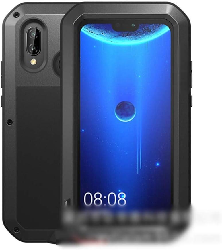 ACHAOHUIXI Huawei P20、P20 Pro、P20 Lite、Mate10、Mate10 Pro、Mate20、Mate20 Pro、Mate20 Lite、Nova 3e用の3つの携帯電話シェル メタル アンチ フォール プロテクティ ブカバー電話ケース (Color : 黒, Edition : Mate20 Pro)