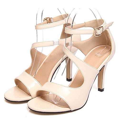 Apricot Abierta Sandalias Stiletto Mujer Punta Coolcept Zapatos wq6A1Yx