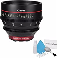 Canon CN-E 50mm T1.3 L F Cine Lens (International Model no Warranty) + Deluxe Cleaning Kit 6AVE Bundle 1
