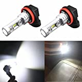 07 acura tl led yellow fog lights - Alla Lighting Extremely Super Bright 2600 Lumens H11LL H8LL H11 H8 H16 LED Bulb High Power 1919-SMD 6000K White LED Fog Light Bulbs Lamps Replacement