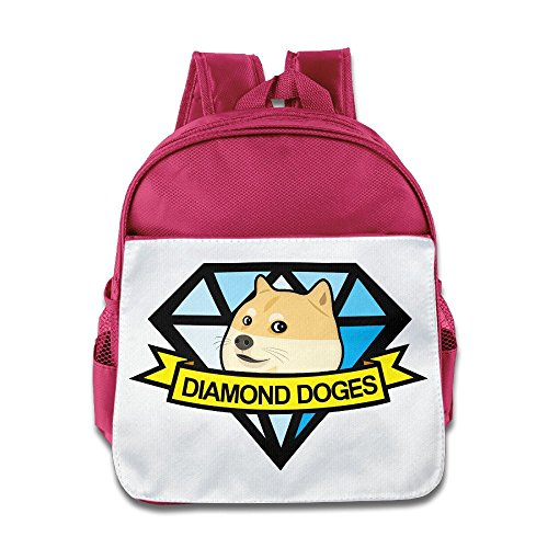 XJBD Custom Cute Diamond Doges-emoji Doge Kids Children School Bag For 1-6 Years Old Pink ()