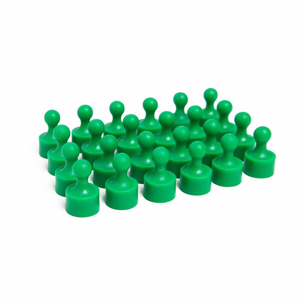 24個 ポーン マグネット式プッシュピン 冷蔵庫磁石 ホワイトボード 地図 グリーン B01LWNFG9L グリーン グリーン