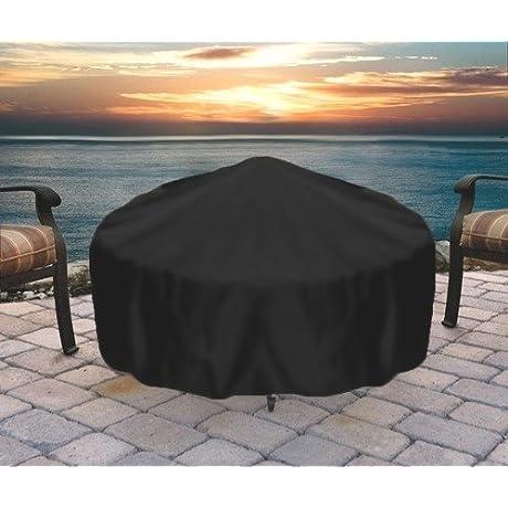Sunnydaze Round Durable Black Fire Pit Cover 30 Inch