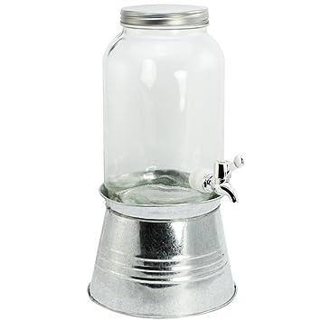 COM-FOUR® Dispensador de bebidas con tapa, grifo y soporte, hasta 3,6 litros (01 pieza - 3,6 litros): Amazon.es: Hogar