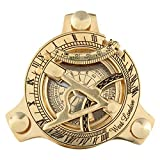 Sundial Compass Solid Brass by Era Collection Nautical Sundial Compass  Sundial Compass Outdoor 3 Inch Sundial Compass Sundial Compass Garden WEST LONDON Handmade Marine Nautical Antique Navy Item