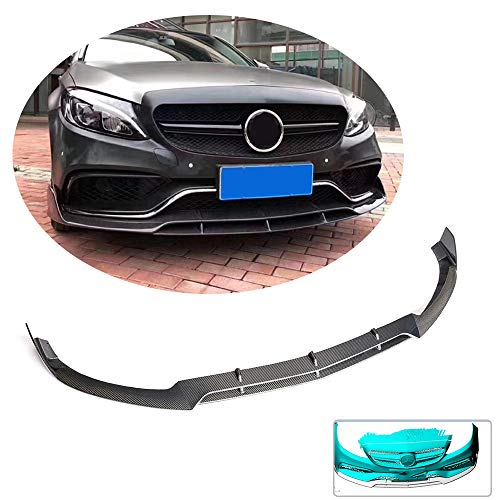 MCARCAR KIT Front Bumper Lip fits Mercedes Benz C Class W205 C63 AMG Sedan 2015-2018 Factory Outlet Carbon Fiber Chin Spoiler Splitter Protector