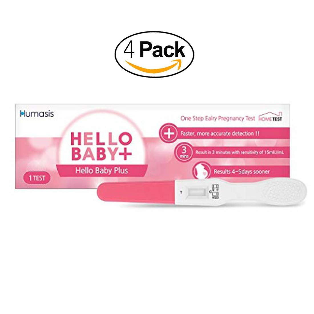 HELLOBABY Early Pregnancy Ovulation Test Stick Urine Midstream 3 Tests Run 4 Pack by [HELLOBABYOEM]