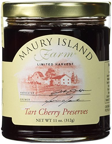 Gourmet Tart Cherry Preserves, 11 oz Jar - All Natural - by Maury Island Farms (Pack of 4)