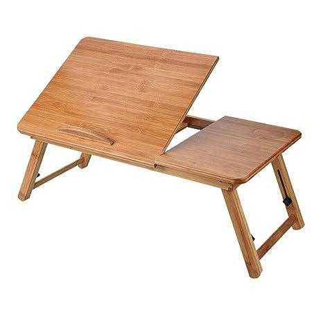 Estink - Mesa de Cama portátil Plegable de bambú Natural, Altura ...